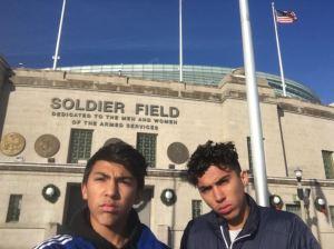 Soldier Field https://en.wikipedia.org/wiki/Soldier_Field